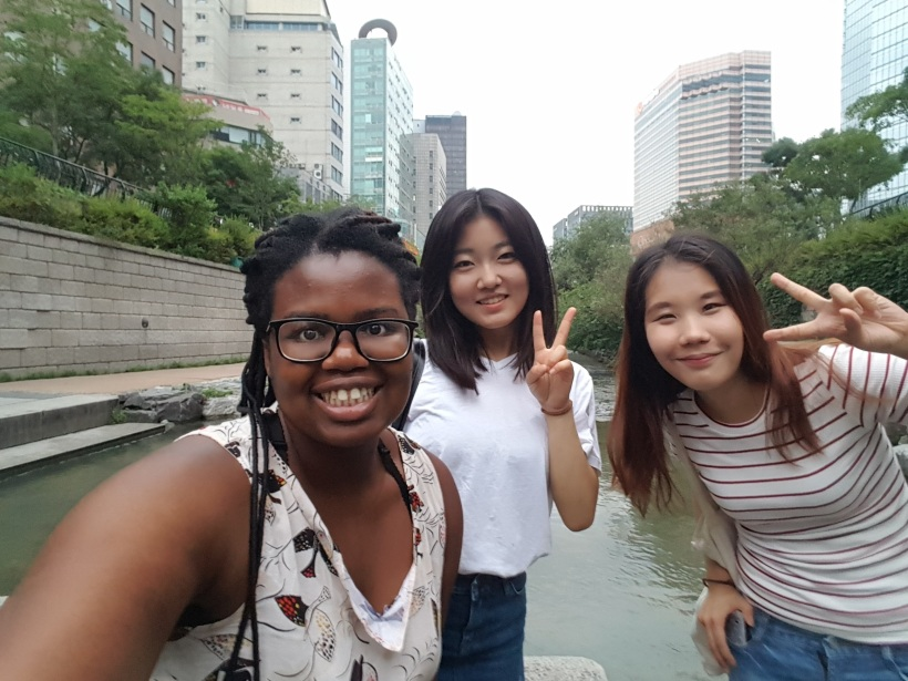 Hanging out with friends from Korea University in Seoul, South Korea