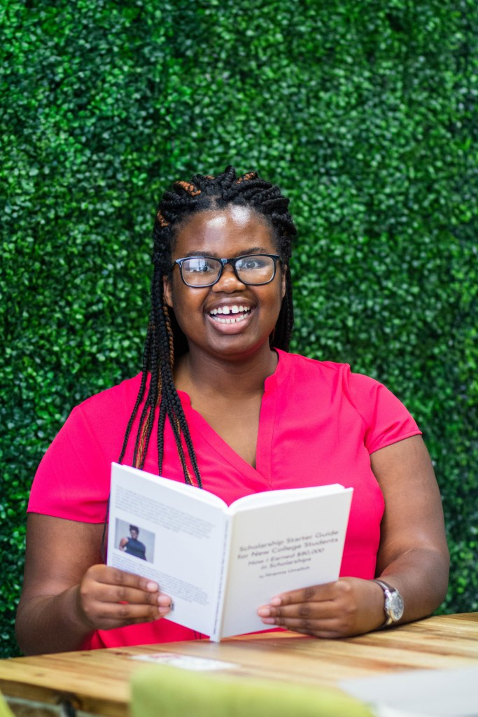 Nnenna Umelloh helps people go to college, grad school or trade school with scholarships with her scholarship book